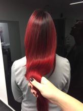 red balayage